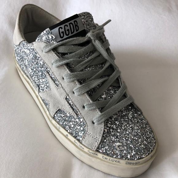 golden goose hi star silver glitter